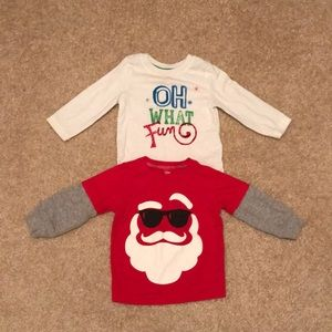 Christmas T-shirts long sleeve 12m